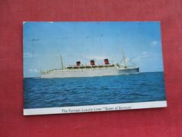 Furness Luxury Liner Queen Of Bermuda Has Bermuda  Stamp & Cancel     Ref 3289 - Steamers