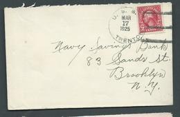 United States US Navy Ship Mail 1925 Cover Used On USS Trenton - United States