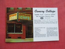 Canary Cottage Cafe  With Recipe Oskaloosa Iowa        Ref 3290 - United States