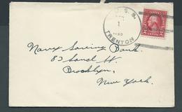 United States US Navy Ship Mail 1929 Cover Used On USS Trenton - United States