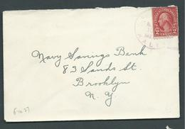 United States US Navy Ship Mail 1927 Cover Used On USS Raleigh - United States