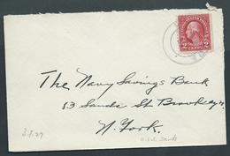 United States US Navy Ship Mail 1927 Cover Used On USS Sands - United States