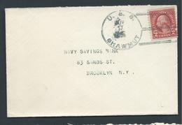 United States US Navy Ship Mail November 1926 Cover Used On USS Shawmut - United States