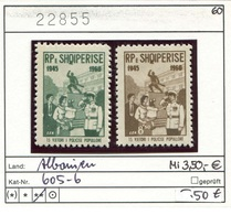 Albanien - Albanie - Albania - Michel 605-606 - ** Mnh Neuf Postfris - - Albanien