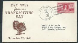 United States US Navy Ship Mail 1948 Cover Used On USS Ingraham - United States