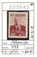Albanien - Albanie - Albania - Michel 598 - ** Mnh Neuf Postfris - Lenin - Albanien