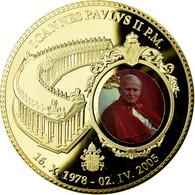 Vatican, Médaille, Pape Jean Paul II, 2005, FDC, Copper Gilt - Jetons & Médailles