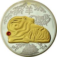France, Médaille, Signe Du Zodiaque Chinois, Année Du Mouton, FDC, Cuivre - France
