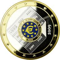 France, Médaille, Europe, Les 10 Ans De L'Union Monétaire, 2009, FDC, Copper - France
