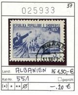 Albanien - Albanie - Albania - Michel 551 - Oo Oblit. Used Gebruikt - Lenin - Albanien