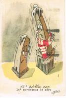 ITALIA- Illustrateur G.BRUSONI - 14° Sotta Zer  -Humour - Voyagée 1954-   Scans Recto Verso- Paypal Free - Autres