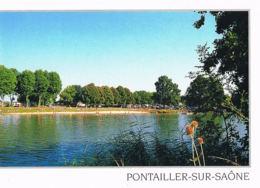 Pontailler -sur-Saone - Côte D'Or- La Plage - Belle Flamme D'Auxonne Au Verso Scanné-Paypal Sans Frais - France