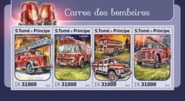 Sao Tome 2016  Fire Trucks ,fire Engines - Sao Tome And Principe