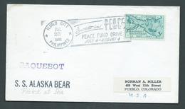 Philippines 1951 Paquebot Cover Iloilo City To Colorado Ship Alaska Bear US Adhesive - Philippines