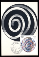 France 1980 Art, Message Of Peace By Yaacov Agam Maxicard - 1980-89