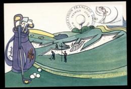 France 1980 French Golf Federation Maxicard - 1980-89