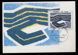 France 1980 Art, Abstract By Raoul Ubak Maxicard - 1980-89
