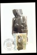 France 1980 Art, Woman Holding Fan Maxicard - 1980-89