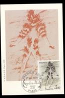 France 1979 Art, Fire Dancer Maxicard - 1970-79
