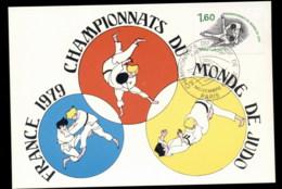 France 1979 World Judo Championships Maxicard - 1970-79