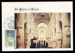 France 1979 Tourism, Bernay & St Pierre Sur Dives Abbeys Maxicard - Maximum Cards
