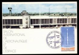 France 1979 Rocket, Concorde Exhibition Maxicard - Maximum Cards