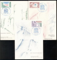France 1980 UNESCO Buildings 3x Maxicards - 1980-89