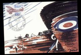 France 1980 Paris-New York Transatlantic Flight Maxicard - 1980-89