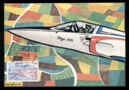 France 1981 Space & Aeronautics Exhibition Maxicard - 1980-89
