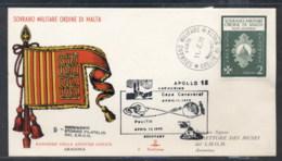 Malta 1970 Sovereign Military Order Apollo 13 Launching FDC - Malte (Ordre De)