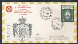Malta 1967 Sovereign Military Order Grand Master Visit, Malta FDC - Malte (Ordre De)