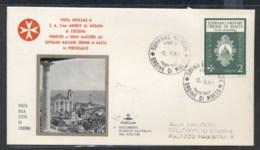 Malta 1967 Sovereign Military Order Grand Master Visit, Lisbon FDC - Malte (Ordre De)