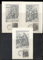 Malta 1967 Sovereign Military Order Xmas 3x Maxicards - Malte (Ordre De)