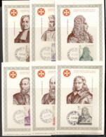 Malta 1969 Sovereign Military Order Portraits 6x Maxicards - Malte (Ordre De)