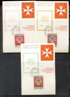 Malta 1971 Sovereign Military Order Peace 3x Maxicards - Malte (Ordre De)