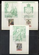Malta 1972 Sovereign Military Order Arms 3x Maxicards - Malte (Ordre De)