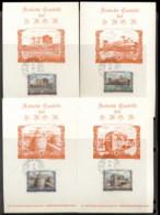 Malta 1972 Sovereign Military Order Antichi Castle 4x Maxicards - Malte (Ordre De)