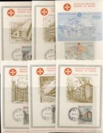 Malta 1970 Sovereign Military Order World Help 6x Maxicards - Malte (Ordre De)