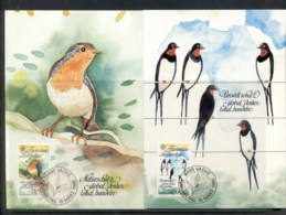 Liechtenstein 1986 Europa Birds 2x Maxicards - FDC