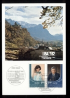 Liechtenstein 1982 LIBA'82 Philatelic Exhibituin, Prince Maxicard - FDC