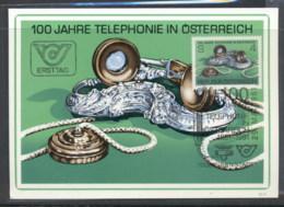Austria 1981 Telephone Service Centenary Maxicard - FDC
