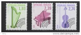 N° 210 à 212  Année 1990  Instruments De Musique, Valeur Faciale 7,06 F - 1989-....