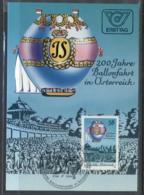 Austria 1984 Balloon Flight Bicentenary Maxicard - FDC