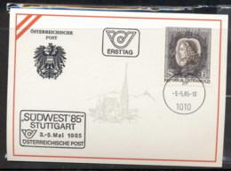 Austria 1983 Johann Joseph Fux FDC Card - FDC