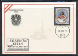 Austria 1984 Stamp Day, Essen '84 Souvenir Card - FDC