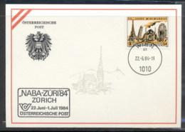 Austria 1984 Model City Souvenir Card FDC - FDC