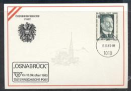 Austria 1983 Viktor Franz Hess , Osnabruck Souvenir Card - FDC