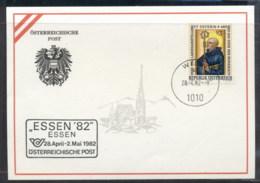 Austria 1982 St Severin, Essen '82 Souvenir Card - FDC
