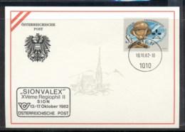 Austria 1982 Geodesist's Day, Sionvalex Souvenir Card - FDC