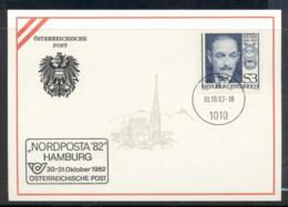 Austria 1982 Emmerich Kalman , Nordposta '82 Souvenir Card - FDC